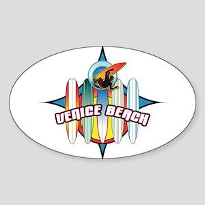Venice Beach Oval Sticker