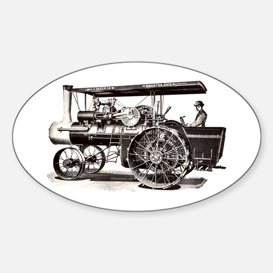 Baker Steam Tractor - Oval Decal