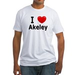 I Love Akeley Fitted T-Shirt