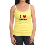 I Love Akeley Jr. Spaghetti Tank