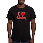 I Love Akeley Men's Fitted T-Shirt (dark)