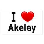 I Love Akeley Rectangle Sticker 10 pk)