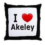 I Love Akeley Throw Pillow