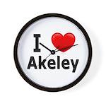 I Love Akeley Wall Clock