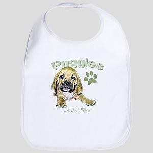 The Best Puggle Design Bib