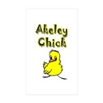 Akeley Chick Rectangle Sticker 50 pk)