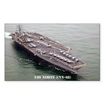 USS NIMITZ Rectangle Sticker 50 pk)