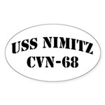 USS NIMITZ Oval Sticker (10 pk)