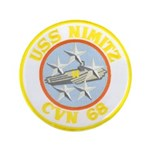 "USS NIMITZ 3.5"" Button (100 pack)"