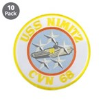 "USS NIMITZ 3.5"" Button (10 pack)"