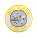 "USS NIMITZ 3.5"" Button"