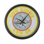 USS NIMITZ Large Wall Clock