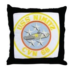 USS NIMITZ Throw Pillow