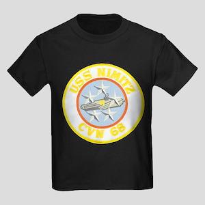 USS NIMITZ Kids Dark T-Shirt