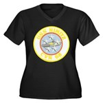 USS NIMITZ Women's Plus Size V-Neck Dark T-Shirt