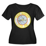 USS NIMITZ Women's Plus Size Scoop Neck Dark T-Shi