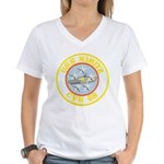 USS NIMITZ Women's V-Neck T-Shirt