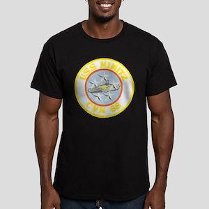 USS NIMITZ Men's Fitted T-Shirt (dark)