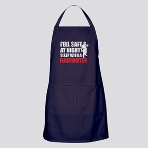 Sleep With A Firefighter T Shirt Apron (dark)