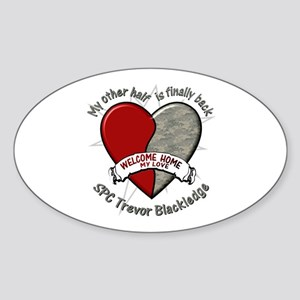 My other half is finally back Oval Sticker
