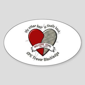 My other half is finally back Oval Sticker