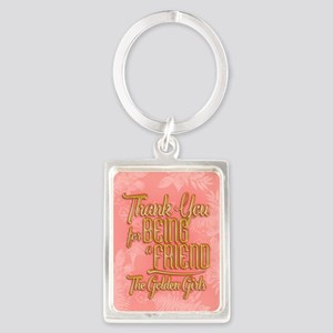 Gold Thank You For Being A Friend Keychains