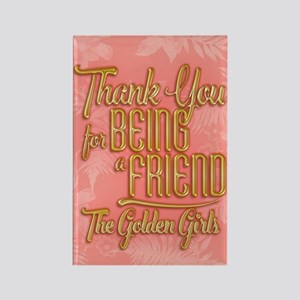Gold Thank You For Being A Friend Magnets