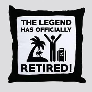 Officially Retired Throw Pillow