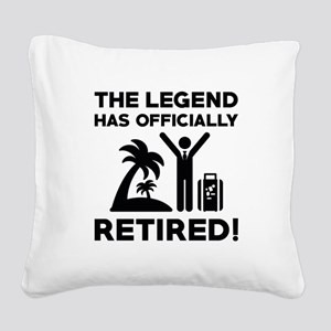 Officially Retired Square Canvas Pillow