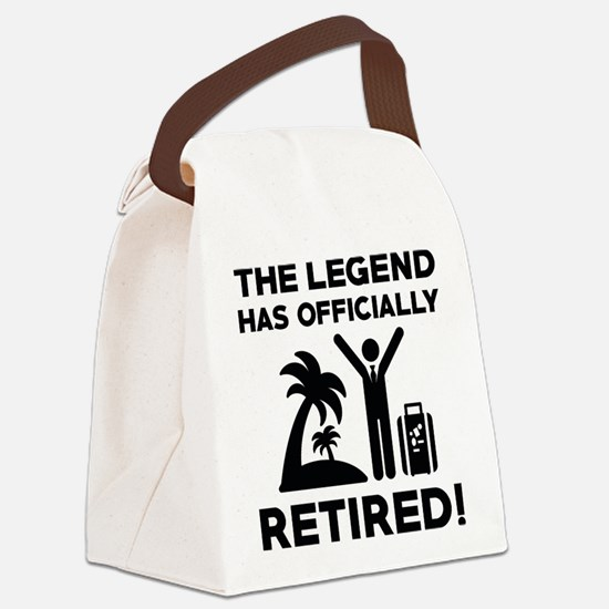 Officially Retired Canvas Lunch Bag