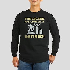 Officially Retired Long Sleeve Dark T-Shirt