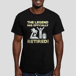 Officially Retired Men's Fitted T-Shirt (dark)