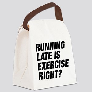 Running Late Canvas Lunch Bag