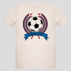 Soccer Croatia Organic Kids T-Shirt