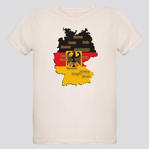 germany map organic kids t shirt
