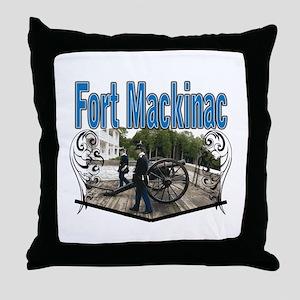 FORT MACKINAC08 Throw Pillow