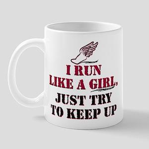 Run like a girl red Mug
