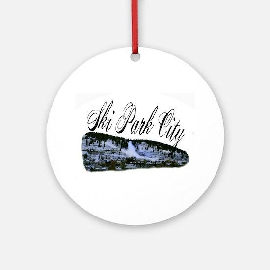 Ski Park City Ornament (Round)