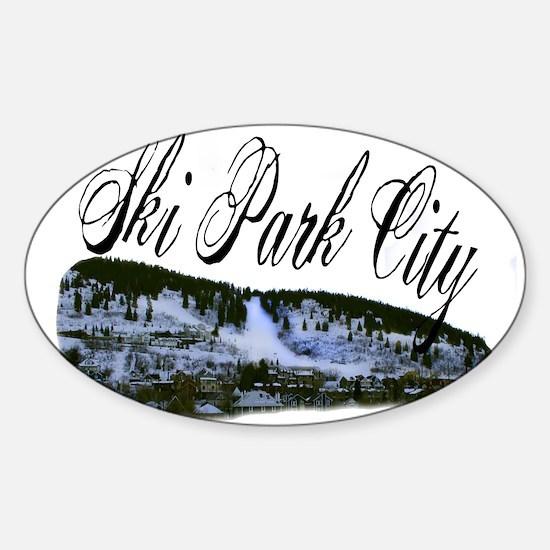 Ski Park City Oval Decal