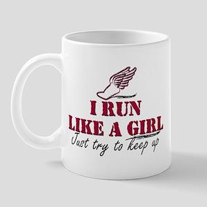 Run like a girl scr Mug