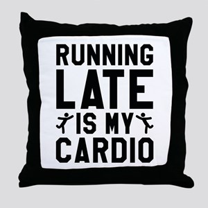 Running Late Throw Pillow