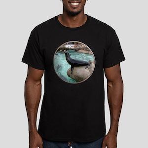Helaine's Sea Lion Men's Fitted T-Shirt (dark)