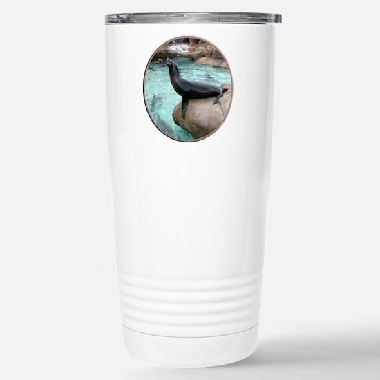 Helaine's Sea Lion Stainless Steel Travel Mug