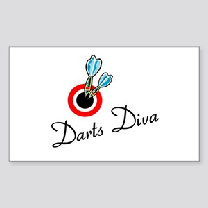 Darts Diva Rectangle Sticker