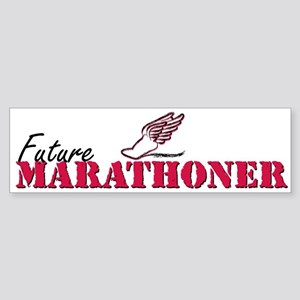 Future Marathoner wf Sticker (Bumper)