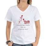 No Matter What (PINK) Women's V-Neck T-Shirt