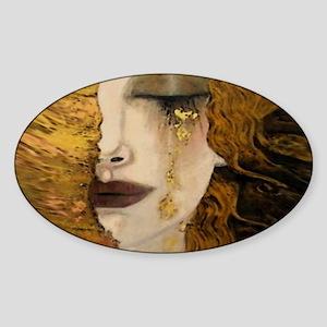 Woman with a Golden Tear Sticker