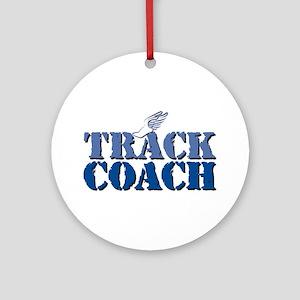 Track Coach Round Ornament