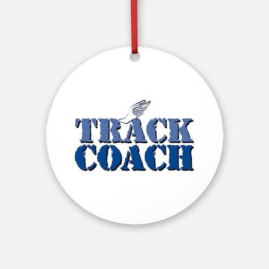 Track Coach wf Ornament (Round)