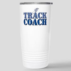 Track Coach 16 oz Stainless Steel Travel Mug